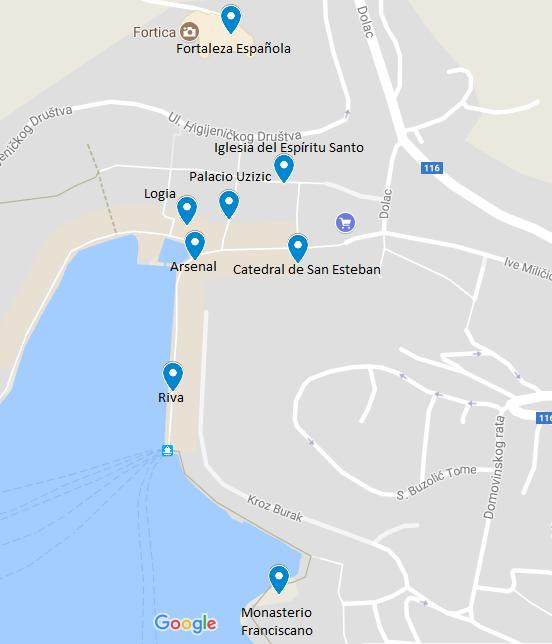 mapa hvar