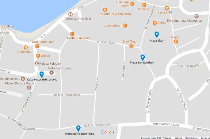 mapa stari grad